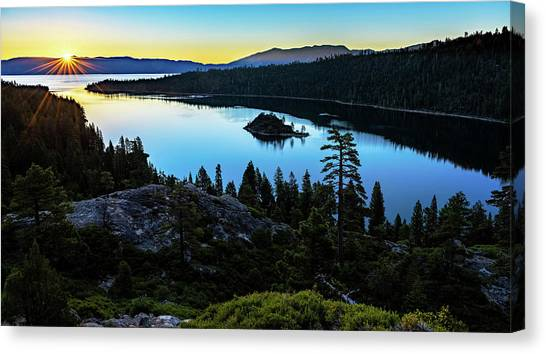 Radiant Sunrise On Emerald Bay Canvas Print