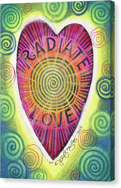 Radiate Love Canvas Print