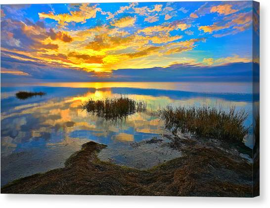 Radical Sunset Over Pamlico Sound Outer Banks Canvas Print