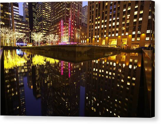 Radio City Reflection Canvas Print