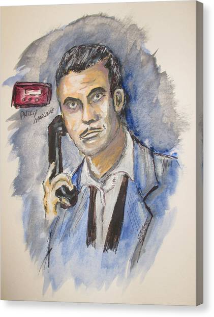 Radio's Philip Marlowe Canvas Print