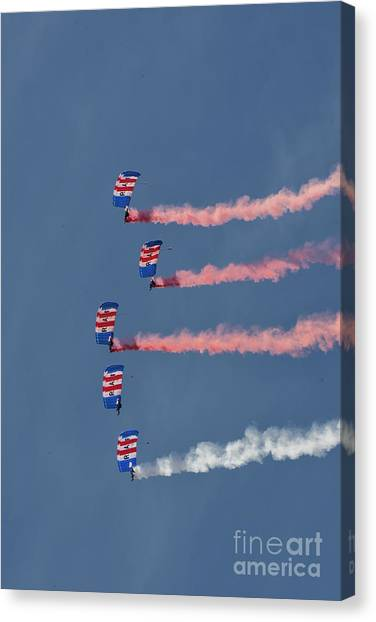 Sunderland Canvas Print - Raf Parachute Display Team by Smart Aviation