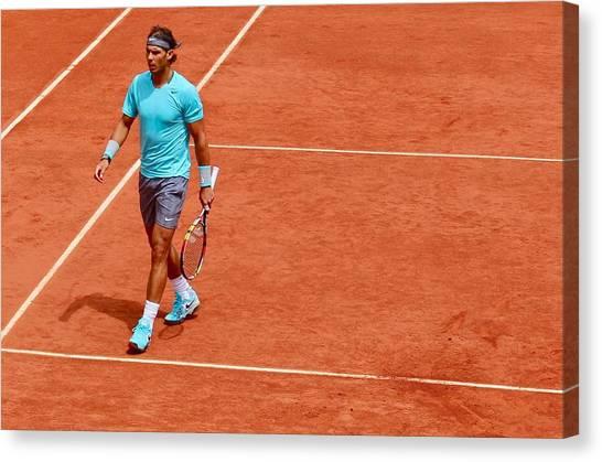 Rafael Nadal Canvas Print - Rafa Nadal Between Points by Lexi Heft