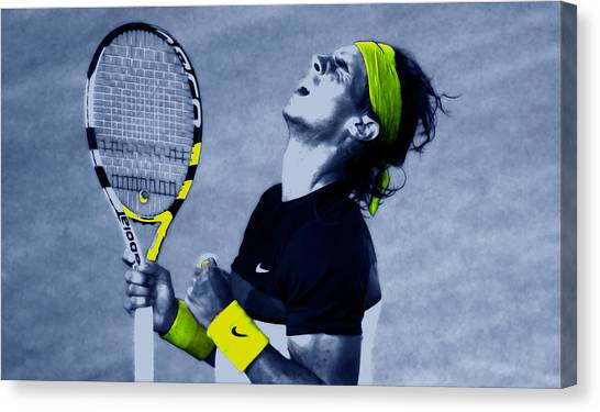 Andy Roddick Canvas Print - Rafael Nadal 1a by Brian Reaves