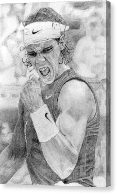 Rafael Nadal Canvas Print - Rafael Nadal by Alexandra Riley