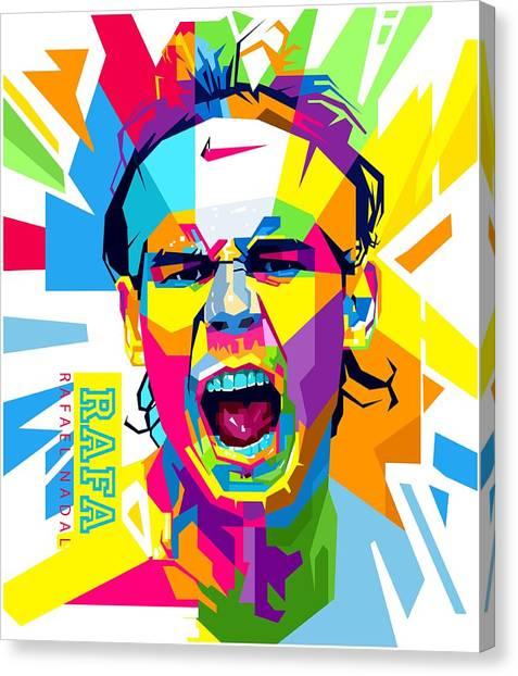 Rafael Nadal Canvas Print - Rafael Nadal by Andree Soka