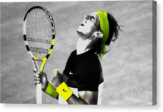 Andy Roddick Canvas Print - Rafael Nadal by Brian Reaves