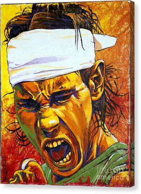 Rafael Nadal Canvas Print - Rafael Nadal by Christian CAZALET