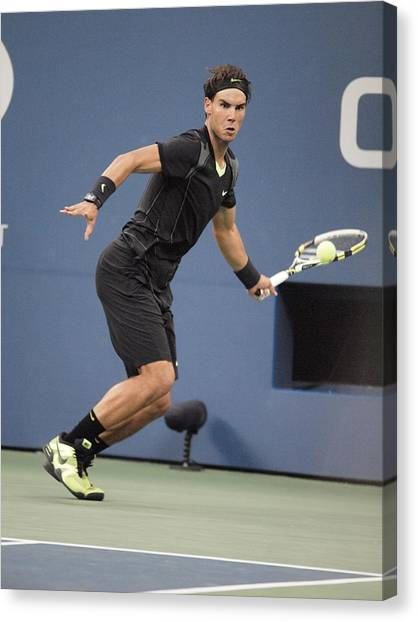 Rafael Nadal Canvas Print - Rafael Nadal In Attendance For Us Open by Everett