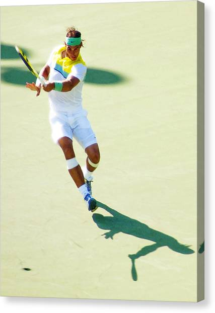 Rafael Nadal Canvas Print - Rafael Nadal Shadow Play by Steven Sparks