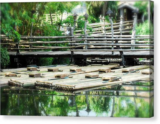 Rafts At Rest Canvas Print
