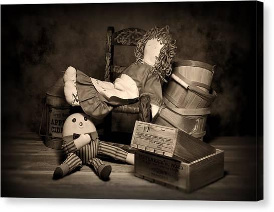 Baskets Canvas Print - Rag Doll by Tom Mc Nemar