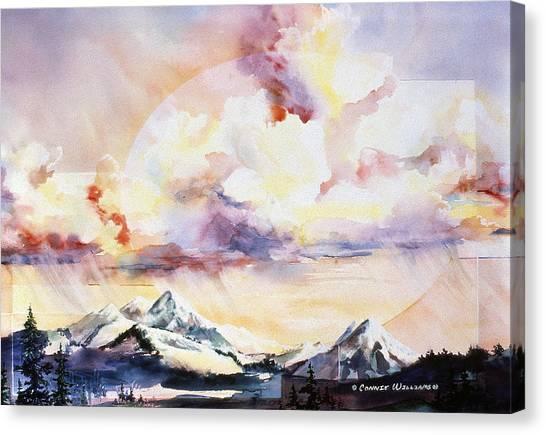 Ragged Mountains Sunset Canvas Print