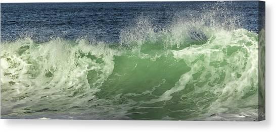 Raging Aqua Sea Canvas Print by Paula Porterfield-Izzo