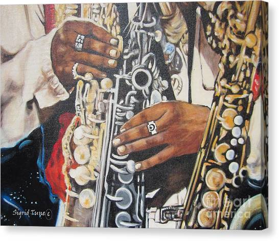 Blaa Kattproduksjoner.      Jazzed  Canvas Print