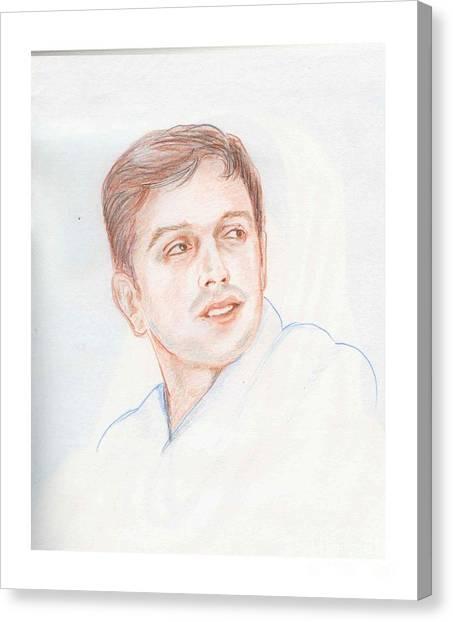 Rahul Dravid  Indian Cricketer Canvas Print