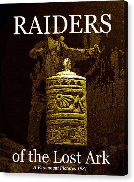 Raiders Of The Lost Ark Canvas Print - Raiders Classic 1930 Serials Work by David Lee Thompson