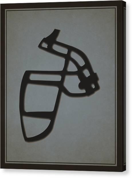 Oakland Raiders Canvas Print - Raiders Face Mask by Joe Hamilton