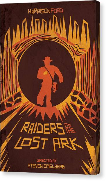 Raiders Of The Lost Ark Canvas Print - Raiders Of The Lost Ark by Bryan Molloy