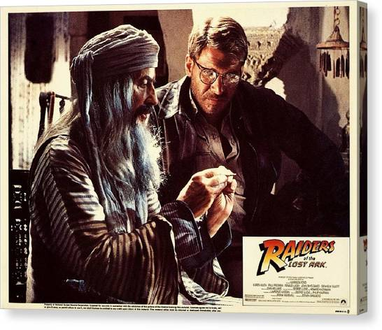 Raiders Of The Lost Ark Canvas Print - Raiders Of The Lost Ark by Dorothy Binder