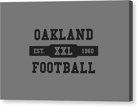 Oakland Raiders Canvas Print - Raiders Retro Shirt by Joe Hamilton