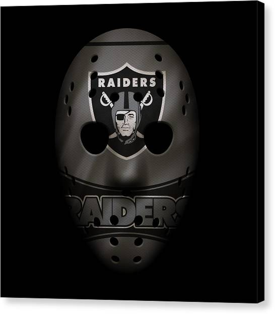 Oakland Raiders Canvas Print - Raiders War Mask 2 by Joe Hamilton