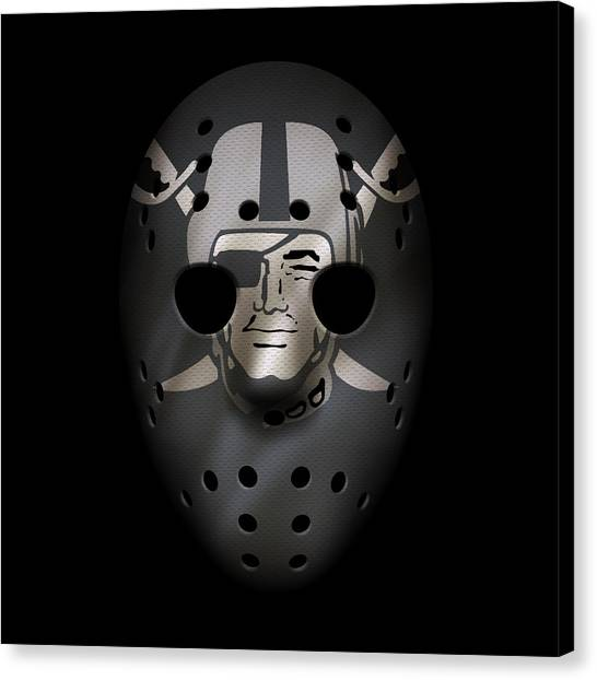 Oakland Raiders Canvas Print - Raiders War Mask 3 by Joe Hamilton