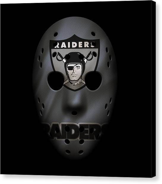 Oakland Raiders Canvas Print - Raiders War Mask by Joe Hamilton