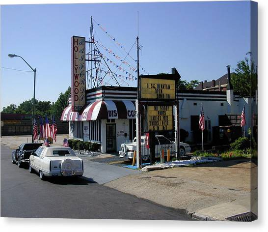 Canvas Print featuring the photograph Raifords Disco Memphis B by Mark Czerniec