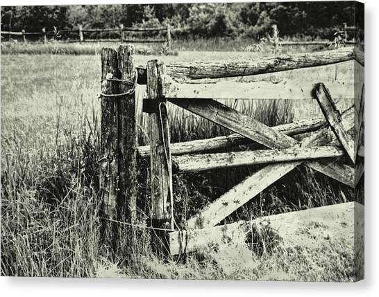Rail Fence Canvas Print by JAMART Photography