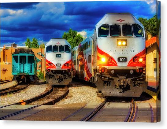 Roadrunner Canvas Print - Rail Runner Express by Garry Gay