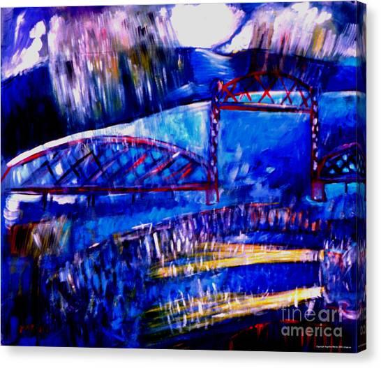 Railroad Brdige  Canvas Print by Angelina Marino
