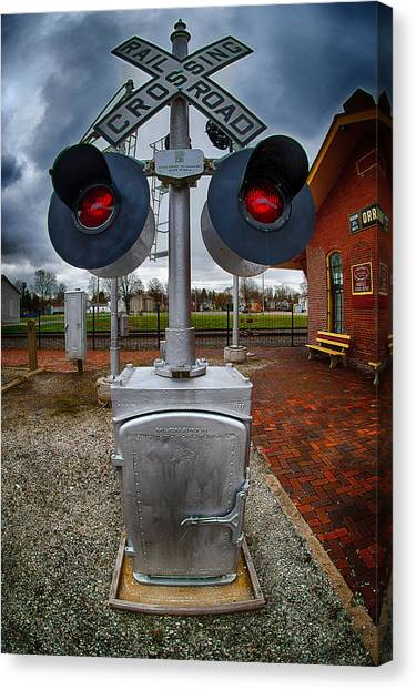Railroad Crossing Signal Canvas Print