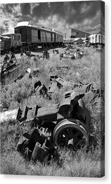 Trainspotting Canvas Print - Railroad Graveyard by Daniel Hagerman