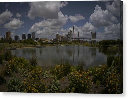 Railroad Park Skyline Canvas Print
