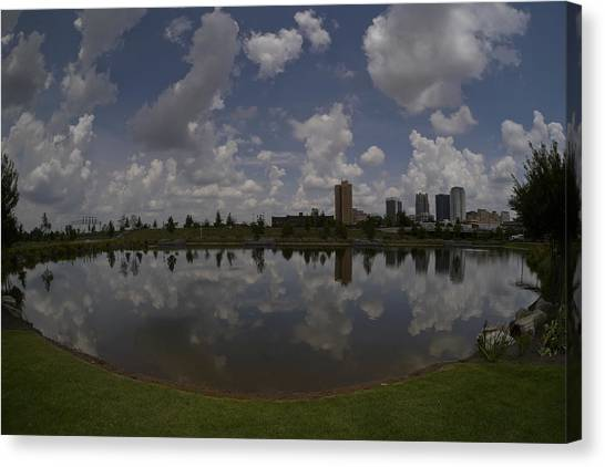 Railroad Park Reflection Canvas Print