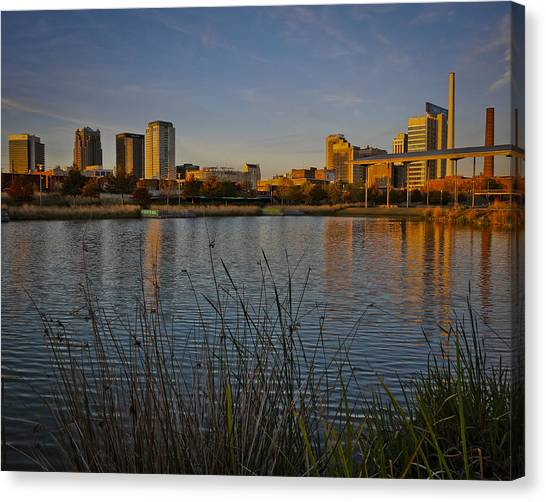 Railroad Park Twilight Canvas Print