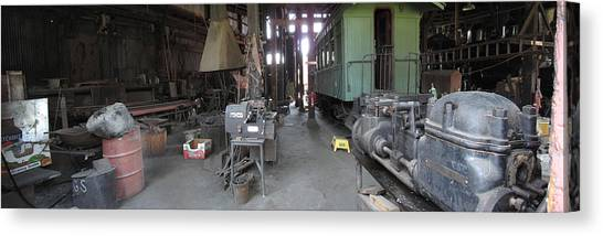 Railroad Shop Canvas Print by Larry Darnell