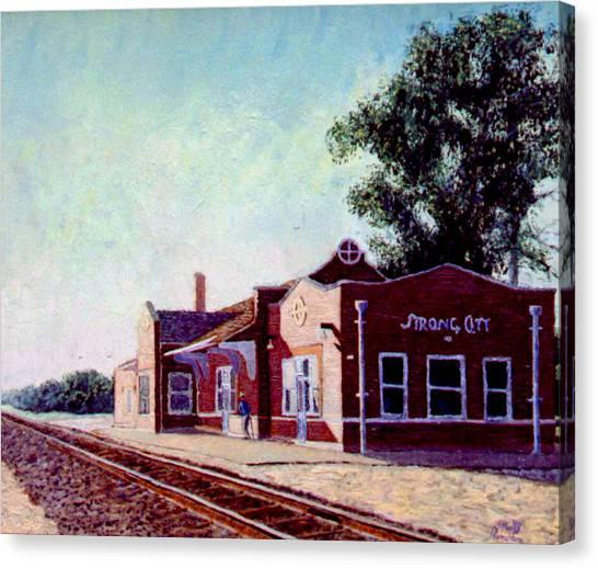 Railroad Station Canvas Print