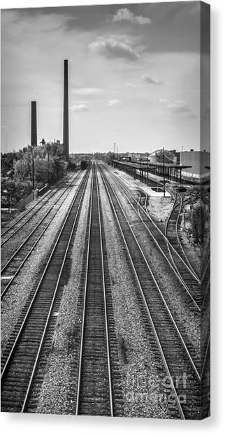 Rails Through Birmingham Canvas Print