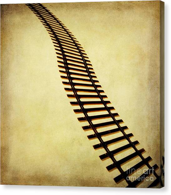 Cut-outs Canvas Print - Railway by Bernard Jaubert