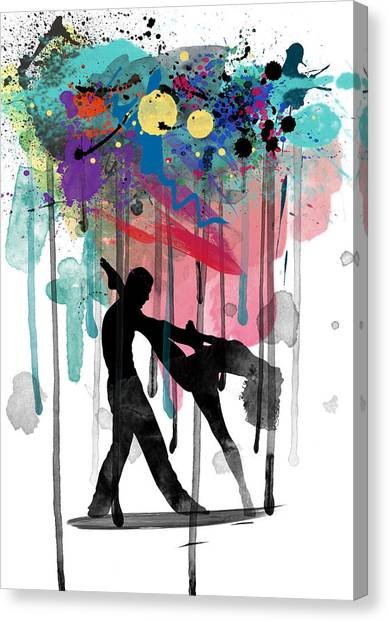 Tap Dance Canvas Print - Rain Again  by Mark Ashkenazi