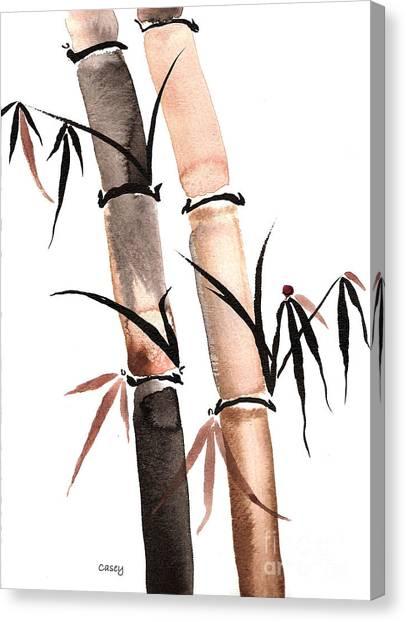 Rain Bamboo Canvas Print