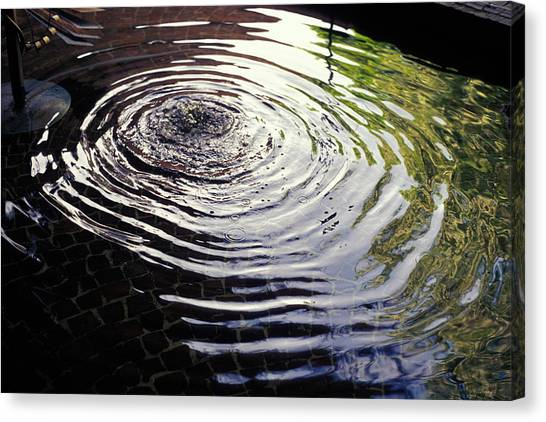 Rain Barrel Canvas Print - Rain Barrel by Carl Purcell