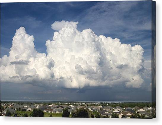 Canvas Print - Rain Clouds Over Lake Apopka by Carl Purcell