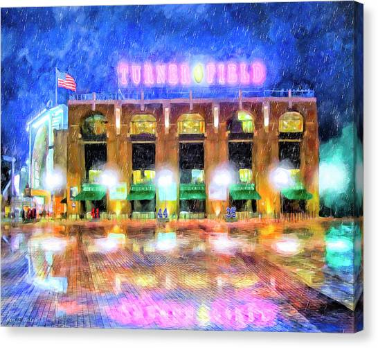 Atlanta Braves Canvas Print - Rain Delay - The Ted by Mark Tisdale