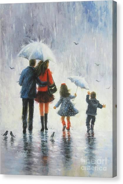 Big Sister Canvas Print - Rain Family Sister Brother by Vickie Wade