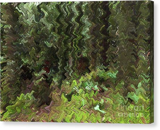 Rain Forest Abstract Canvas Print