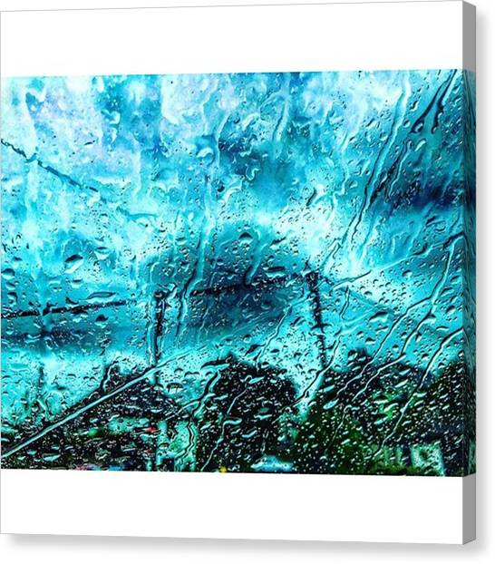 Rainclouds Canvas Print - Rain Is Here To Stay Me Thinks by James Young