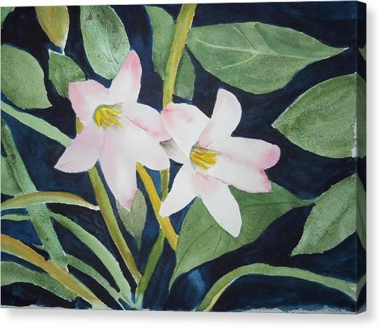 Rain Lilly Canvas Print